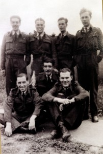 WW2 RAF veteran Tom Sayer, Bottrells Lane, Chalfont St Giles. Tom (back row 2nd from left) and his crew in 1943.